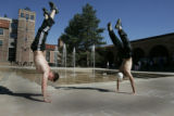 On a day like today you can feel like doing anything and Matt Perry (cq) senior and Ryan Ford...