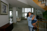 EJ209 Jeanette Blanco-Wellers (cq), with her son, Evan Wellers, age 19 months, in her home in...