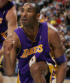 JPM246  Los Angeles Lakers Kobe Bryant reacts to drawing a foul and converting the shot in the...