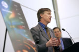 (DENVER shot on 3/31/05)   Denver based Gates Corporation, and Mayor John Hickenlooper unveil a...