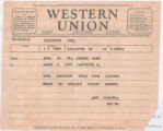 Western Union TELEGRAM  James Conn