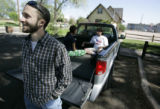 Danny Ledonne (cq) hangs out with his friends (L-R in truck ) Natalie Trujillo (cq)  and Cory...
