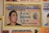 This a fake identification card that were confiscated by Colorado State Patrol along the I70...
