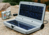 JPM122 Brunton Solar Port 4.4: $119, amidst a camp with numerous high tech or innovative gear at...