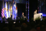 United States Attorney General Alberto R. Gonzales, cq, delivers the keynote speech Tuesday May....