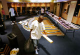 Denver Nuggets G Earl Boykins leaves the Pepsi Center after gathering his  personal belongings...