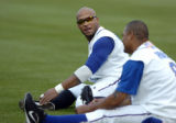 NCJC102 - **SPECIAL TO THE ROCKY MOUNTAIN NEWS ** Durham Bulls' centerfielder Darnell McDonald,...