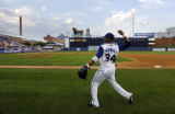 NCJC105 - **SPECIAL TO THE ROCKY MOUNTAIN NEWS ** Durham Bulls' centerfielder Darnell McDonald...