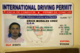 This is a fraudulent identification card confiscated by State highway Patrol along the I70...
