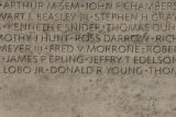 Donald Young's name on the 10 West panel of the National Law Enforcement Officers Memorial. Two...