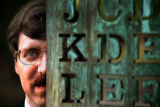 7/16/99  -  caption:  David Stein has decoded an encrypted copper sculpture known as Kryptos on...