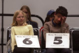 Denver, Colo., photo taken March 19, 2005- Laura Shultz (left cq), 12, a home schooled student...