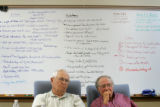 Central Colorado Water Conservancy District board members Don Rosenbrock, left, and Frank Eckhardt...