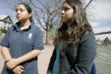 (L-R) Janet Jiminez (cq) and her twin  and Emily Jiminez (cq) ,15 students at North High School...