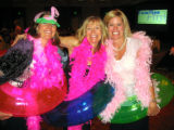 Pink Flamingos/Families First - From left,  Barb Ingalls, Linda Smith and Brooke Parker.