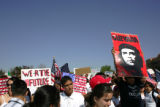 Marchers gather at Viking Park in Denver, Colo. Monday morning May 1, 2006 in advance of a...