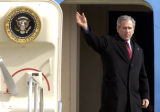Denver, Colo.-(March 21-2005)- President George Bush  (cq George Bush) arrived at Buckley Air ...