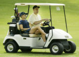 **SPECIAL TO THE ROCKY MOUNTAIN NEWS** Golfer Natalie Gulbis, left,  and her boyfriend, Pittsburgh...