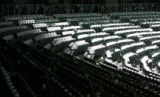 Snow settles on seats at Coors Field, Thursday Mar. 29, 2007 four days from the Colorado Rockies...