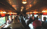 "Dinner aboard the ""Theodore Roosevelt"" dining car on the Royal Gorge Route Railroad...."