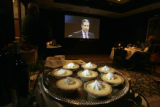 ***HIGH COUNTRY ENTERPRISE*** A platter of Morton's key-lime pie is displayed in front of a screen...