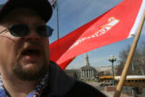 Dale Parrish (cq) , 45 rallies in front of the State Capitol in downtown Denver to oppose the...