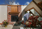 MJM1111 Rene Denis (cq) retrieves items that she can salvage from her  home in Holly, Colo....