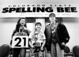 The top three finishers in the Rocky Mountain News State Spelling Bee, from left: Nina Choy,...