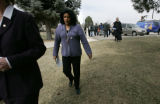 (Aurora shot on 3/23/05)Laredo Middle School principal Janet Sawyer(CQ-Janet Sawyer) walks away...