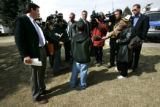 (Aurora shot on 3/23/05) The media surrounds Robby Turk(CQ-Robby Turk) a 12 year old student who...