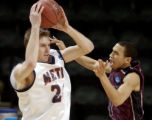 **SPECIAL FOR ROCKY MOUNTAIN NEWS**Metro State's Mark Worthington, left, against Virginia Union's...