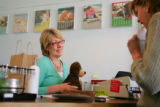 Debbie Bodian (cq), left, owner of Paper Talk at 1575 S. Pearl St. (THAT IS CQ:  its 1575, NOT...