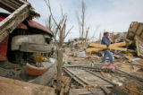 A day after a tornado hit the town of Holly in southeastern Colorado, re-construction efforts are...