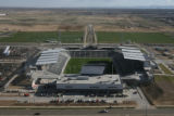 Colorado Rapids new stadium. Dick's Sporting Goods Park in Commerce City, Colo. as seen from the...