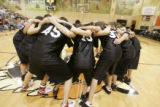 Members of the West , Best of the West All-Star team of high school seniors rally together during...
