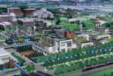 An artist rendering of the new Veterans Affairs Hospital planned for the Fitzsimons campus....