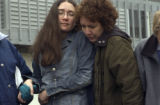 (DENVER, Colo., March 25, 2005) Mother and daughter pray in embrace. Ginny Durakovich (cq...