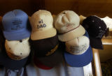 (ENGLEWOOD, CO., March 25, 2005) Donald Hooten's hat collection hangs in his home. Donald  and...
