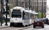 View of the Light Rail Station at 18th and Stout on Thursday April 25,2007.New vision plan for...