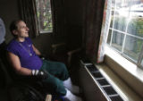 After sharing rooms with several older patients, 56 year-old Nicholas Patrick looks out the window...