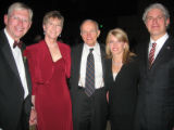 From left, Gordon E. Von Stroh and his wife, Patrice, DU Chancellor Emeritus Daniel Ritchie and...