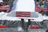 Justin Magriplis lands head-first in the water at the 2007 Spring Splash event for the last day of...