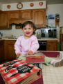Spotlight food. Mother's Day food, Katherine Keeley Pappas's daughter, Nathalie, 16 months, sits...