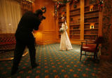 Photographer Chip Bromfield takes a formal picture of debutante Caroline Butler.   (STEVE...