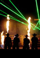 MJM316 A laser light show complete with a firework display introduces the PBR or Professional Bull...