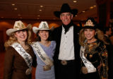 Crystal Rivers (Miss Rodeo Wyoming), Amy Jo Fields (Miss Rodeo Colorado), Pete Coors, and Ashley...