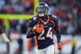 In the second quarter, the Denver Broncos Champ Bailey (#24, CB) takes off on a 70 yard...