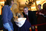 MJM649 Newly sworn in Colorado Governor, Bill Ritter greets the public following his inauguration...