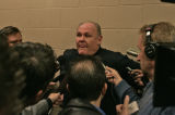 George Karl speaks with the media Monday evening  Dec. 18, 2006 before the Nuggets game against...