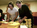 (DENVER, Colo., Mar. 29, 2005) Carlyn Febrey (cq) of Planned Parenthood and Jeanette Blize (cq) of...